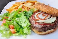 American burger Royalty Free Stock Photography