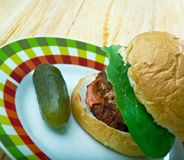 American burger Royalty Free Stock Images
