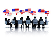 American Business People Having a Meeting Royalty Free Stock Photo