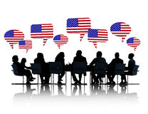 American Business People Having a Meeting Royalty Free Stock Photos
