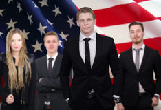 American business team diplomats Stock Photography