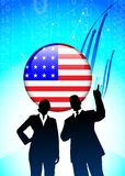 American Business team on Financial background Stock Photography