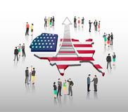 American business vector with professionals Royalty Free Stock Images