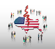 American business vector with professionals Stock Photo