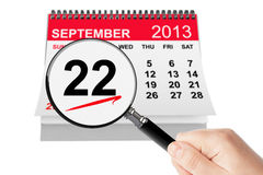 American Business Women's Day Concept. 22 september 2013 calenda Stock Photos