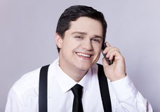 American businessman calling by phone. Royalty Free Stock Photography