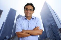 American businessman urban city buildings Stock Photo