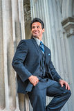 American Businessman waiting for you outside in New York Royalty Free Stock Photo