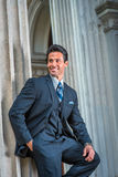American Businessman waiting for you outside in New York Royalty Free Stock Image