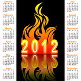 American calendar 2012. Royalty Free Stock Images
