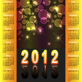 American calendar 2012. American calendar 2012 with abstract background royalty free illustration