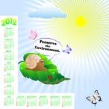 American calendar 2012. Stock Photography