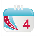 American calendar icon. Isolated on white stock illustration