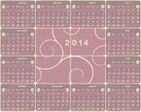 American calendar for 2014 year. Vector American calendar for 2014 year Stock Image