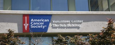 American Cancer Society Belz Volunteer Building Royalty Free Stock Photo