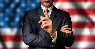 American candidate speaks to the people crowd royalty free stock photography