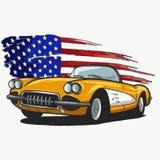 american car διανυσματική απεικόνιση