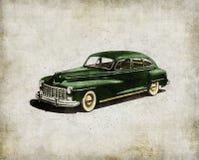 american car classics retro Πράσινο παλαιό αυτοκίνητο διανυσματική απεικόνιση