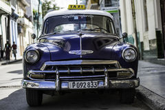 American Car in Cuba. View of a classic American car in Cuba Royalty Free Stock Images