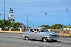 American car at Malecon in Havana, Cuba Stock Images