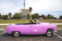Old American car in Havana, Cuba Royalty Free Stock Images