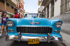 Old American car in Havana, Cuba Stock Photo