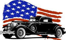 american car vintage Απεικόνιση αποθεμάτων
