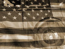 American car vintage background Stock Photography