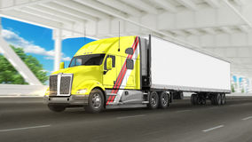 American Cargo Truck Royalty Free Stock Photography