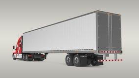American Cargo Truck Stock Photography