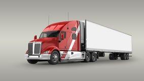 American Cargo Truck Stock Image