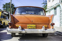 American Cars in Cuba. Classic American car in Cuba royalty free stock photos