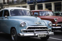 American Cars in Cuba. Portrait of a classic American car in Cuba stock photo