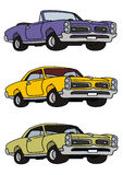 American cars. Drawing of classic american musclecars Stock Images