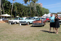 American cars in a line up Royalty Free Stock Images