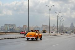 American cars at Malecon in Havana, Cuba Stock Image