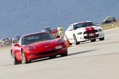 American cars racing Stock Image