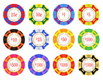 American Casino Chips Stock Photos