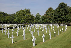 American Cemetery. Royalty Free Stock Images