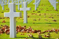 American cemetery Royalty Free Stock Photography