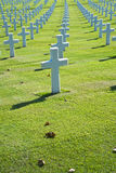 American cemetery. Monumental cemetery in memory of World War II near Florence Italy royalty free stock photo