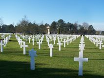 American Cemetery Royalty Free Stock Photo
