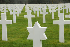 American cemetery of  Colleville Stock Photography
