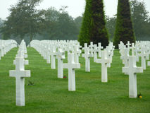 American Cemetery of Colleville. At the D-Day beaches in Bayeux, Normandy, France stock image