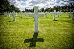 American Cemetery Colleville-sur-Mer Omaha Beach Normandy France Stock Photography