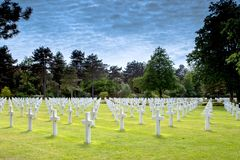 American Cemetery France Stock Images