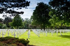 American Cemetery France Royalty Free Stock Images