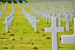 American Cemetery In Italy Royalty Free Stock Image