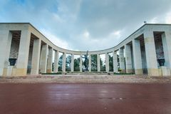 American Cemetery In Normandy Monument,France Stock Photo