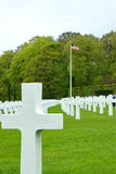 American Cemetery in Luxembourg - marble crosses Royalty Free Stock Image